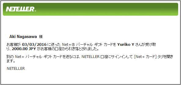 Net+バーチャルギフトカード27